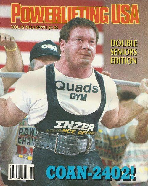 ED COAN portada revista powerlifting