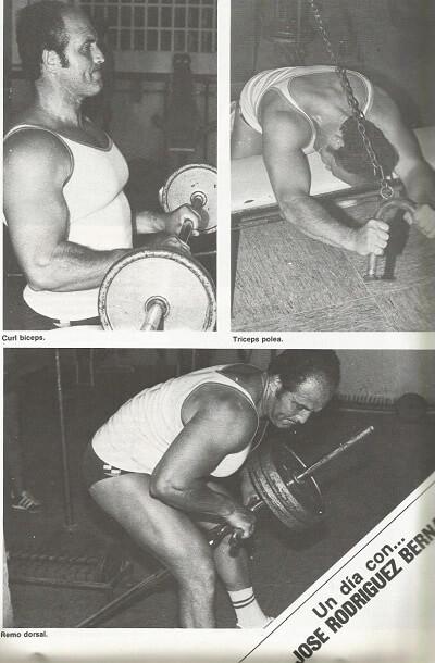 Jose Rodriguez Bernal entrenando
